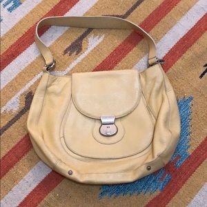 Canary Yellow Leather Furla Bag